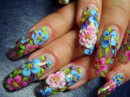 Картины на ногтях - целое искусство