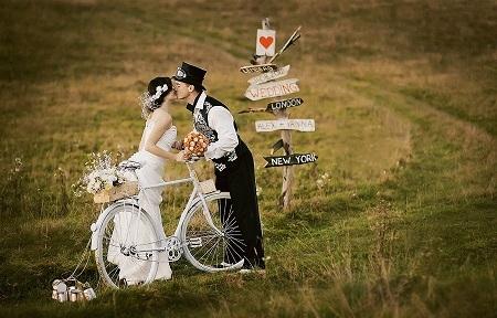 Экологически-чистый свадебный кортеж