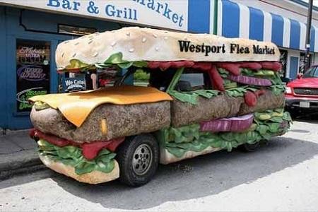 """""""Гамбургер"""" на колесах - креатив налицо!"""