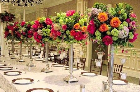 Цветочный декор на свадьбе