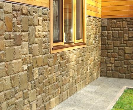 Песчаник используют и при фасадных работах