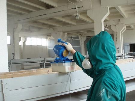 Работы по дезинфекции проводят во многих помещениях