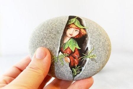 Картины на камнях