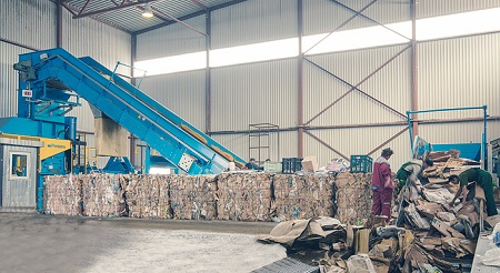 Один из вариантов линии переработки и производства