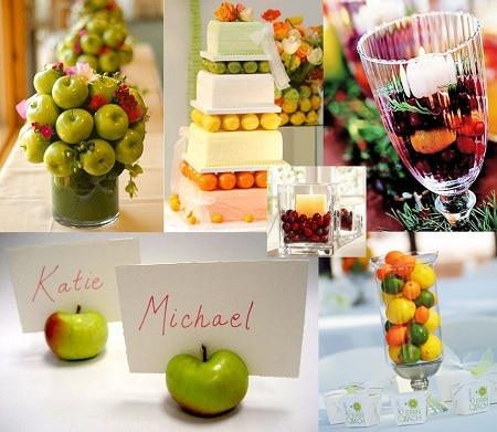 Оформление праздников фруктами - не менее интересная идея