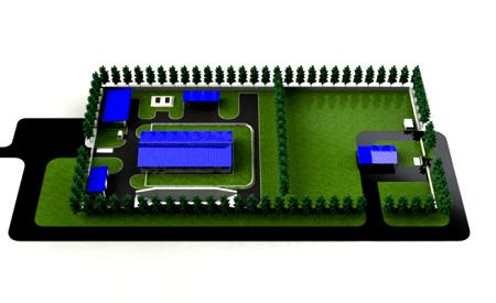 План-схема модульного молочного завода