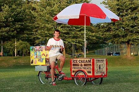 Уличная продажа мороженого
